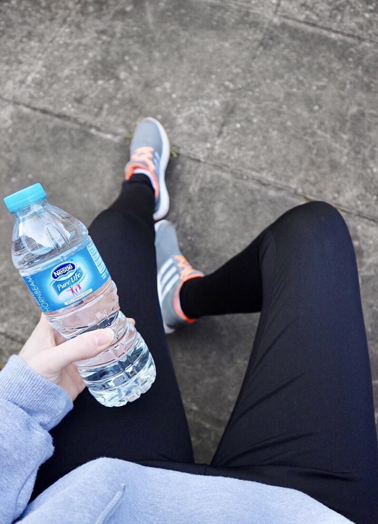 Water and running leggings