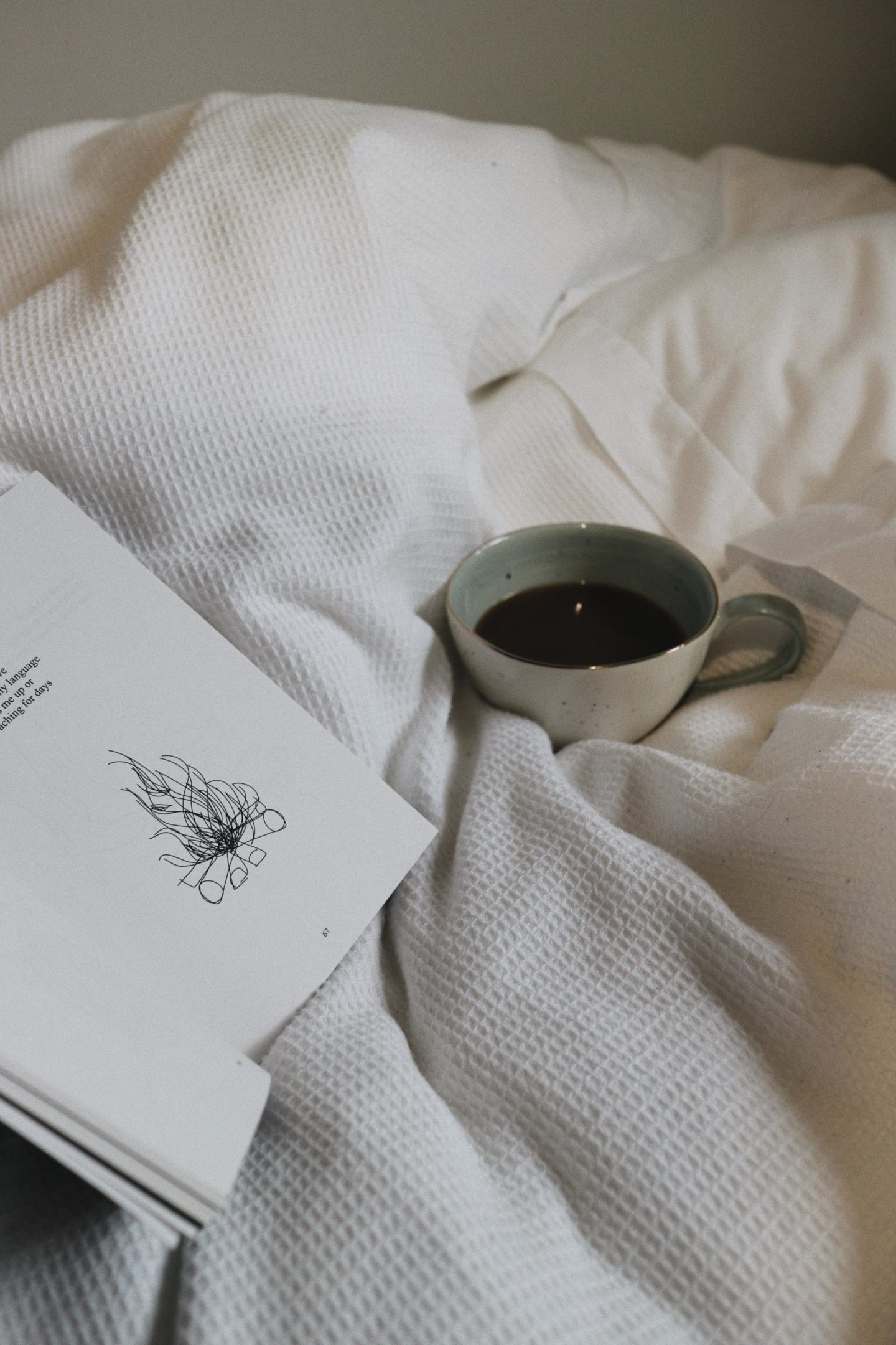 cold rainy days, coffee, bed