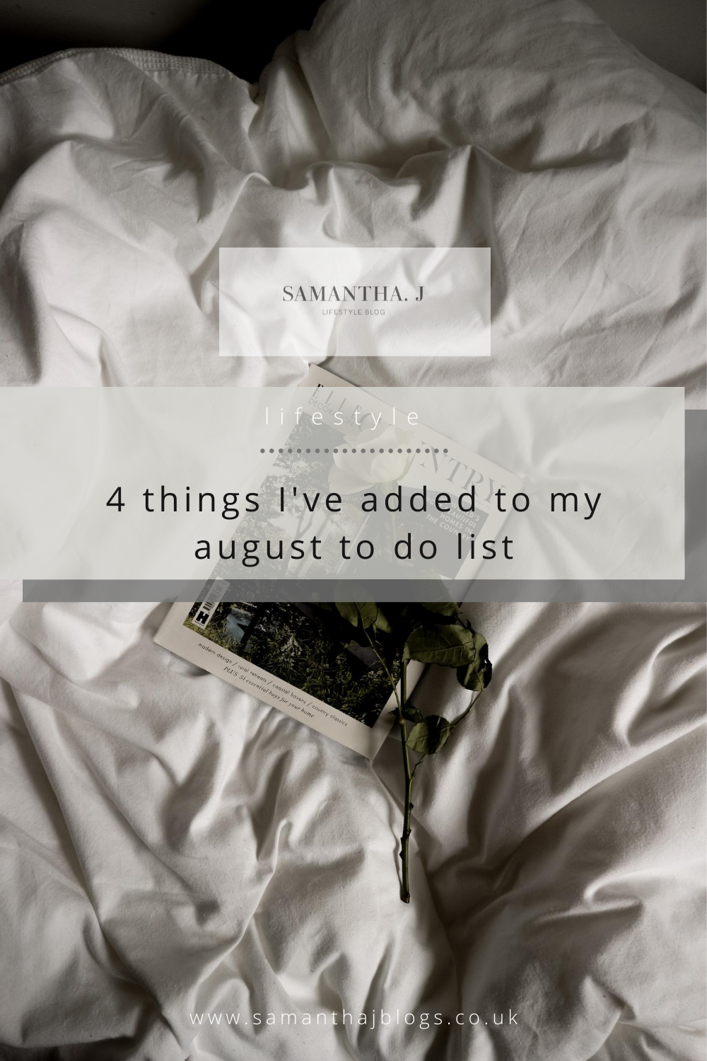 4 things I've added to my august to do list
