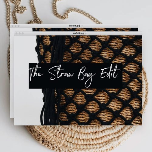 The straw bag edit